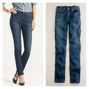 J. Crew high-waisted skinny jean in night owl wash