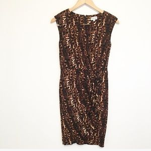 Marvin Richards Animal Print Wrap Dress