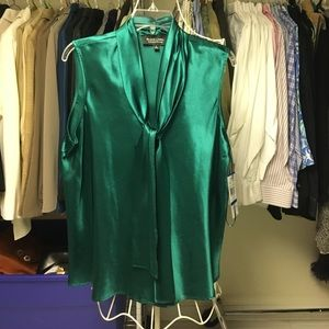 Black Label by Evan-Picone Tops - Emerald Blouse