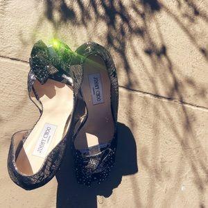 Authentic Jimmy Choo open toe heels