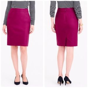 🆕 J. Crew pencil skirt in double serge cotton