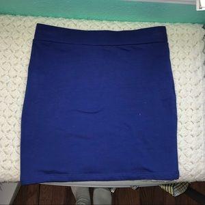 Blue bodycon skirt