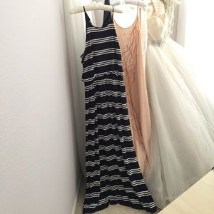 classic striped maxi dress | loft