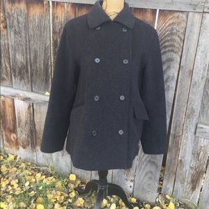J.Crew wool/cashmere coat size med