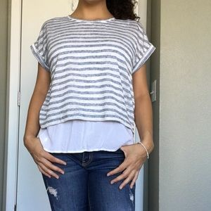 Two By Vince Camuto Layered Blouse