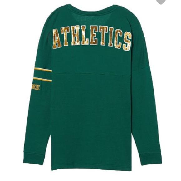 best website e7819 d70b0 Pink Victoria's Secret Oakland Athletics sweater NWT