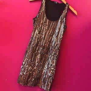 Bronze Gold Sequin Dress