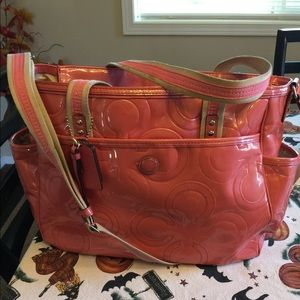 Coach Pink Diaper Bag Extra Large