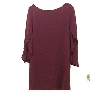 MILLY Silk flutter sleeve dress