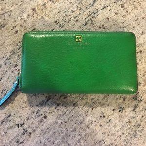 Kate Spade Green multi pocket wallet