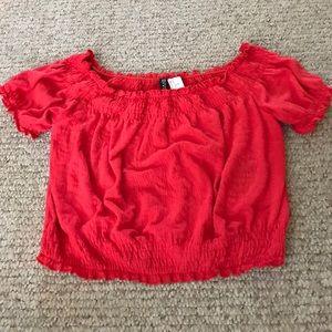 Red crop top!