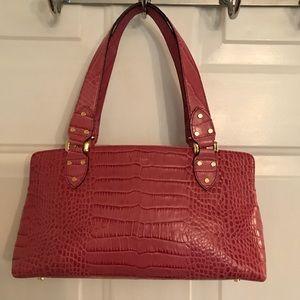 🛍 Kate Spade Pink Leather Embossed Tote Bag