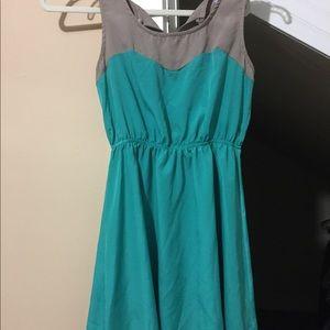 Grey and Teal Alya Francesca's Dress