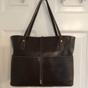 🛍 Kate Spade Brown Large Leather Tote Bag