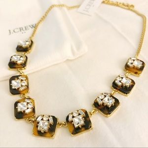 J.crew Tortoise crystal necklace