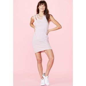 LNA Double tank cut dress