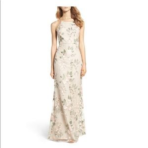 Jenny Yoo Claire Floral Embroidered Gown Blush 2