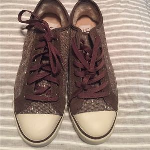 NWT UGG Shearling lined Sneakers 7.5 brown 🌺