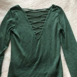 Reversible green sweater!