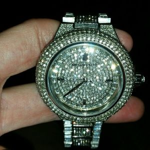 NWT WOMEN AUTHENTIC MK BLING WATCH