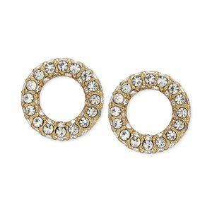 Kate Spade gold diamond stud earrings