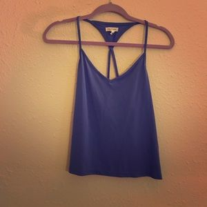 Backless Periwinkle Tank