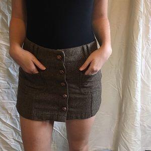 american eagle tweed miniskirt