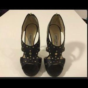 Jimmy Choo heels Black Metal Studs Size 39 EU