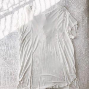 anthropologie white laceback t shirt