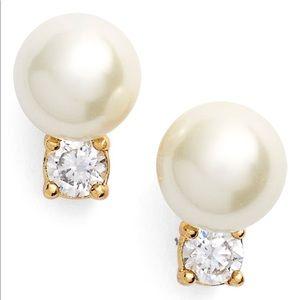 Pearl diamond Classical stud earrings