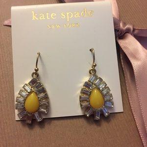 Kate Spade diamond stone earrings