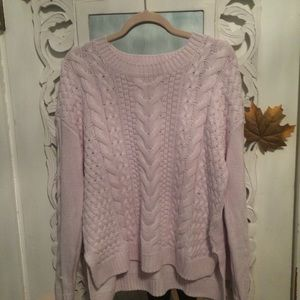 Pretty in Pink H and M Knit Pullover Sweater