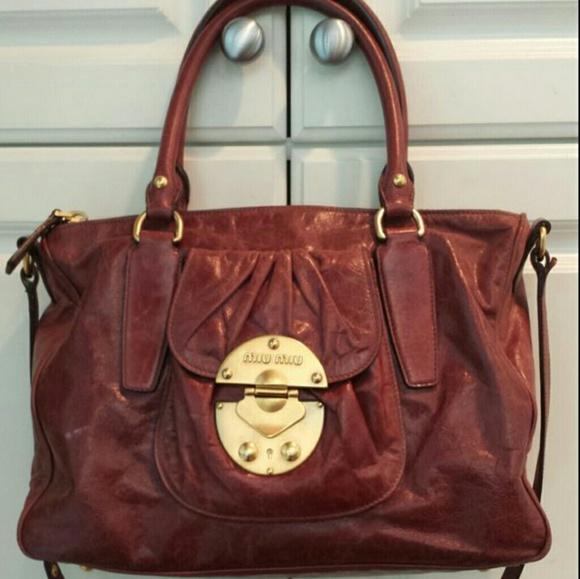 Miu Miu Bags   Founder Of Prada Leather Handbag   Poshmark 60d58c97a1