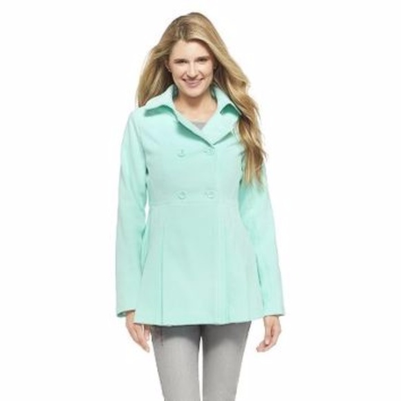 66% off Xhilaration Jackets & Blazers - Mint Green Pea Coat, Like ...