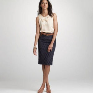 J.CREW Blue No. 2 pencil skirt in ultra eyelet wom