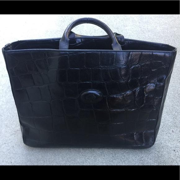 b553769cad42 purchase mulberry congo leather black vintage handbag 198ea c1d0d  sale mulberry  black congo leather hellier tote 7a43f db0e9