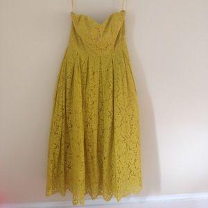 Yellow Tea-Length Dress