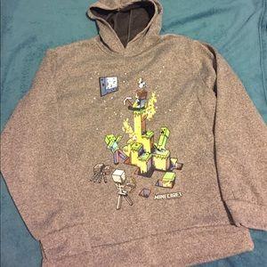 Boys minecraft pullover hoodie sweater NWOT