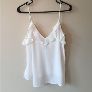 Zara Ruffle Low Back Tank