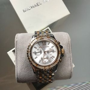Michael Kors GLITZ Tri tone Watch