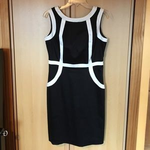 Black and white formal dress size 6