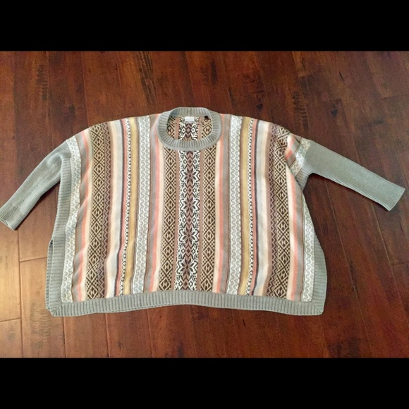 53% off CAbi Sweaters - Size XS Cabi Fair Isle Poncho Sweater from ...