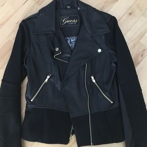"""Guess wool """"leather"""" jacket"""