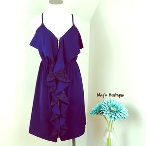 ⭐️Blue Rain Elegant Navy Sleeveless Dress⭐️