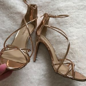 Shoes - Rose gold heels
