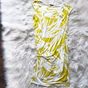 Loft Yellow and White Floral Dress