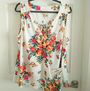 ModCloth brand floral shirt