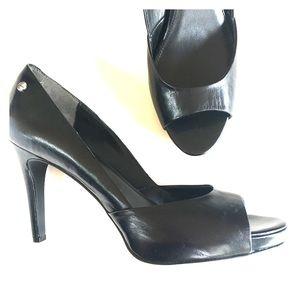 NEW CALVIN KLEIN black platform pumps heels 8.5