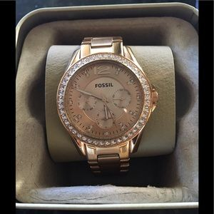 Authentic Fossil Rose Gold Stainless Steel Watch
