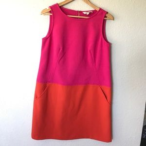 LOFT// Color Block Shift Dress